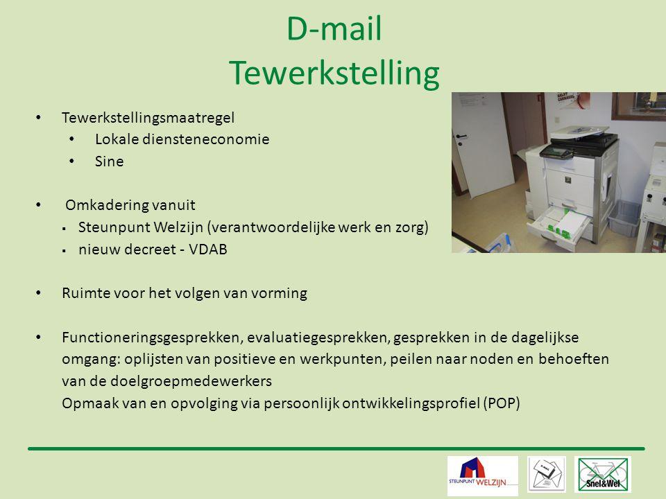 D-mail Tewerkstelling
