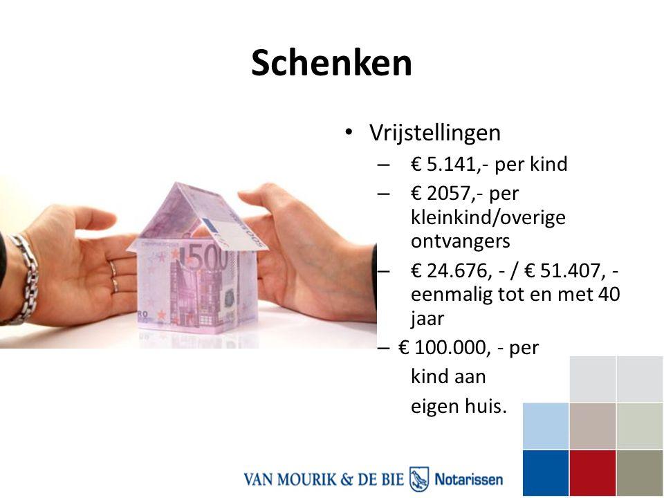 Schenken Vrijstellingen € 5.141,- per kind