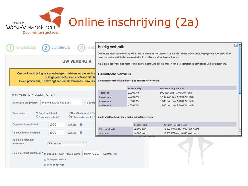 Online inschrijving (2a)