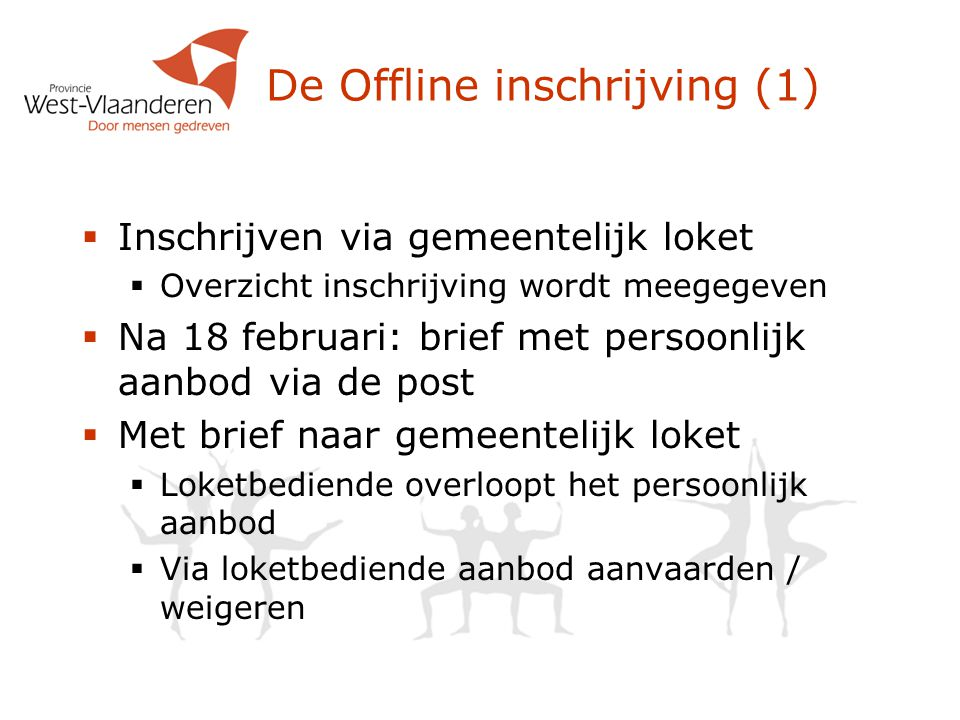 De Offline inschrijving (1)