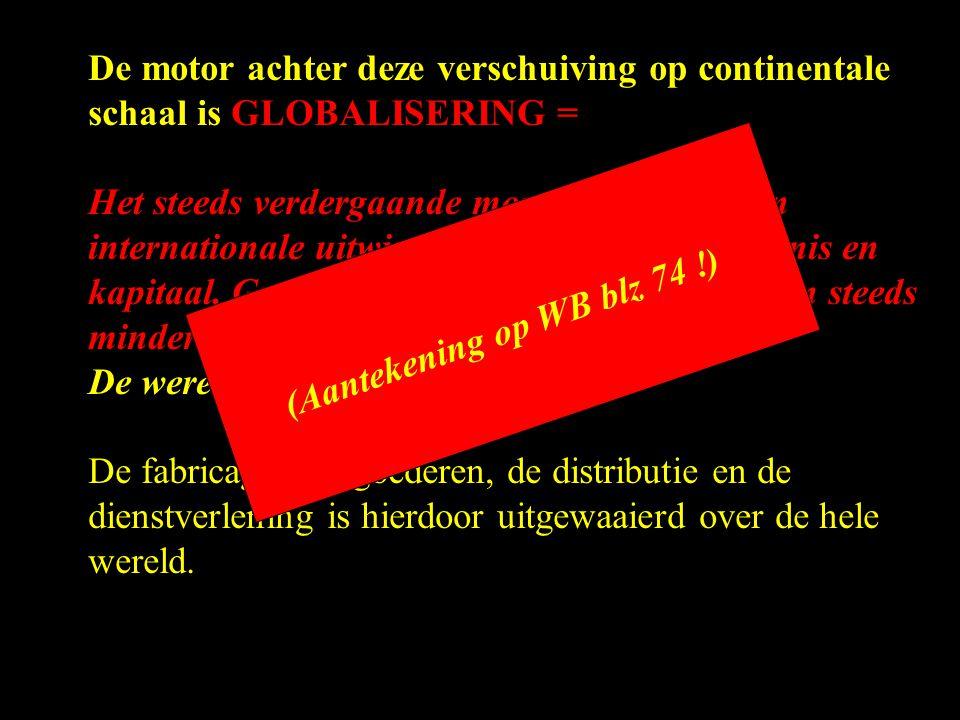 De motor achter deze verschuiving op continentale schaal is GLOBALISERING =