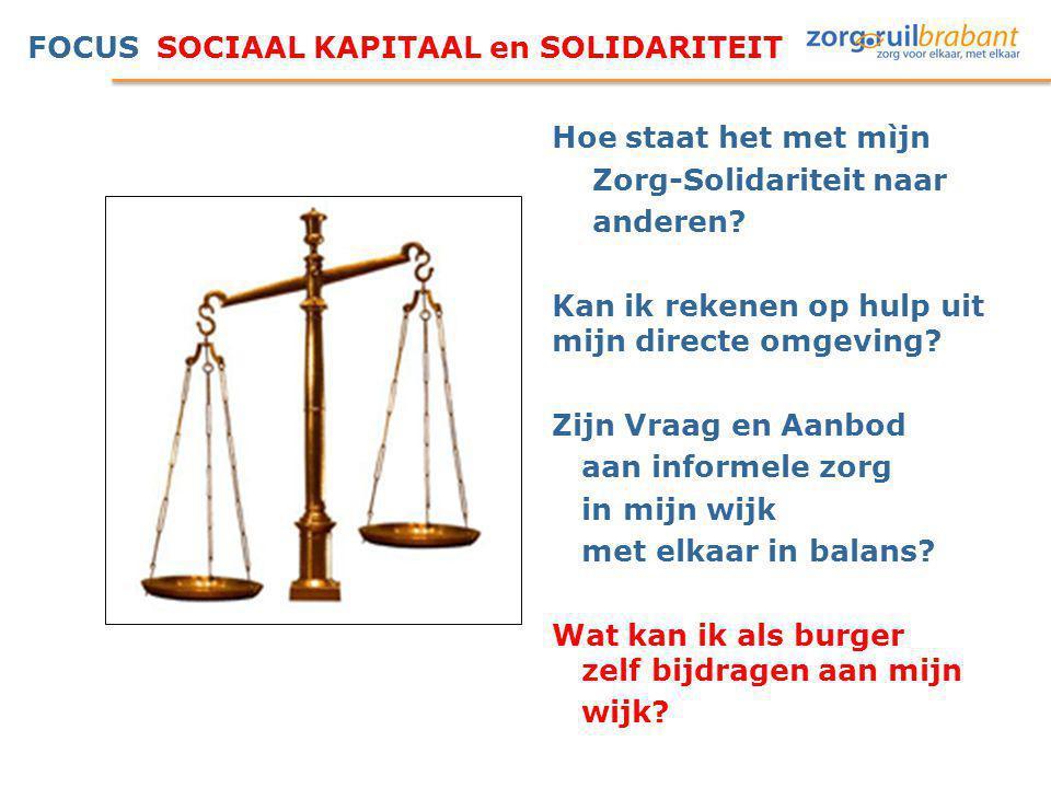 FOCUS SOCIAAL KAPITAAL en SOLIDARITEIT