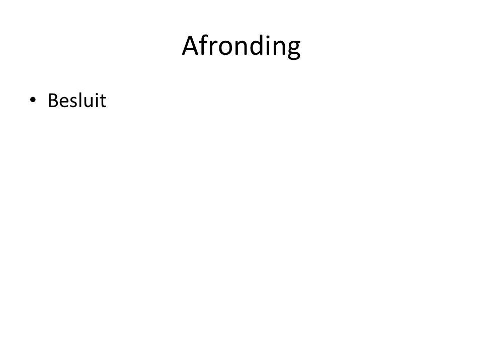 Afronding Besluit