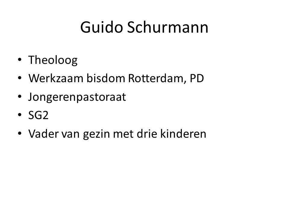Guido Schurmann Theoloog Werkzaam bisdom Rotterdam, PD