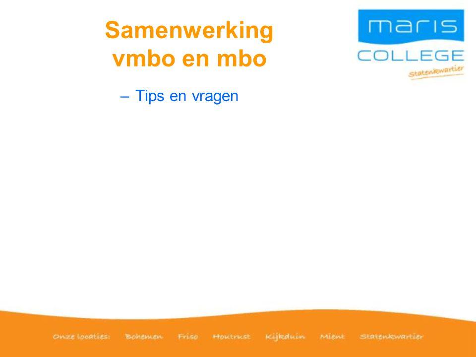 Samenwerking vmbo en mbo