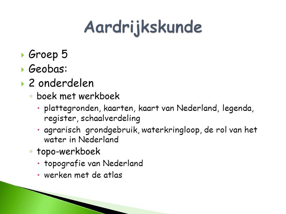 Aardrijkskunde Groep 5 Geobas: 2 onderdelen boek met werkboek