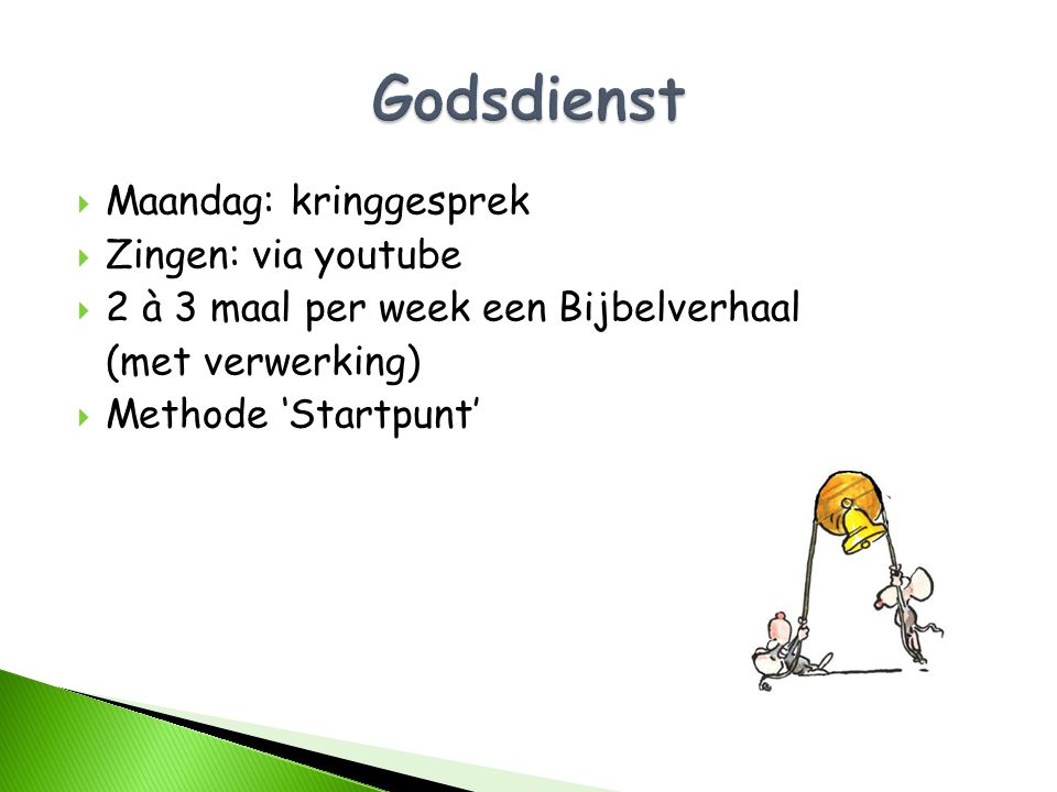 Godsdienst Maandag: kringgesprek Zingen: via youtube