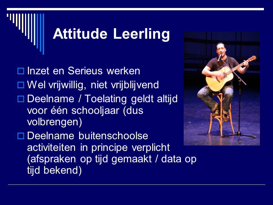 Attitude Leerling Inzet en Serieus werken