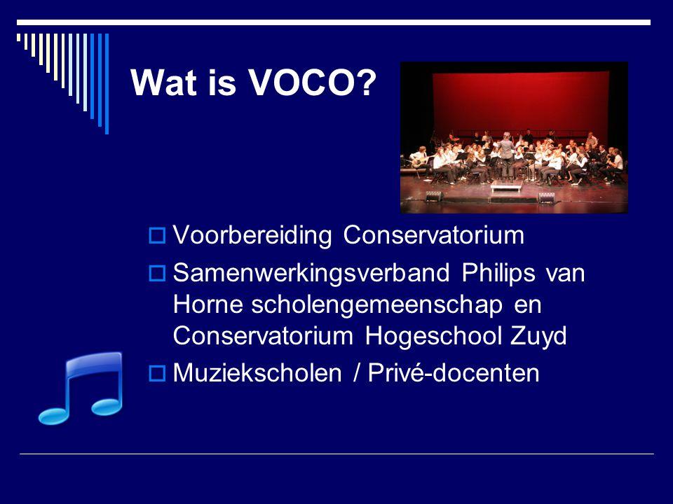 Wat is VOCO Voorbereiding Conservatorium