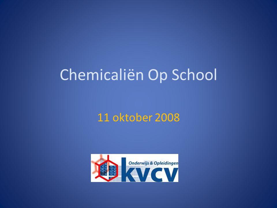 Chemicaliën Op School 11 oktober 2008