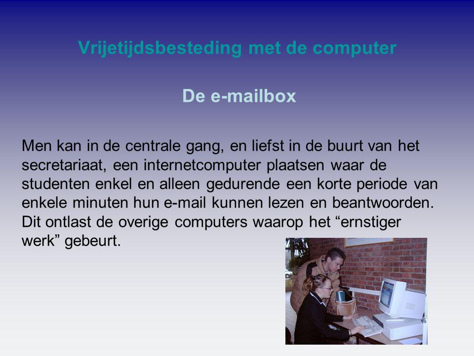 Vrijetijdsbesteding met de computer