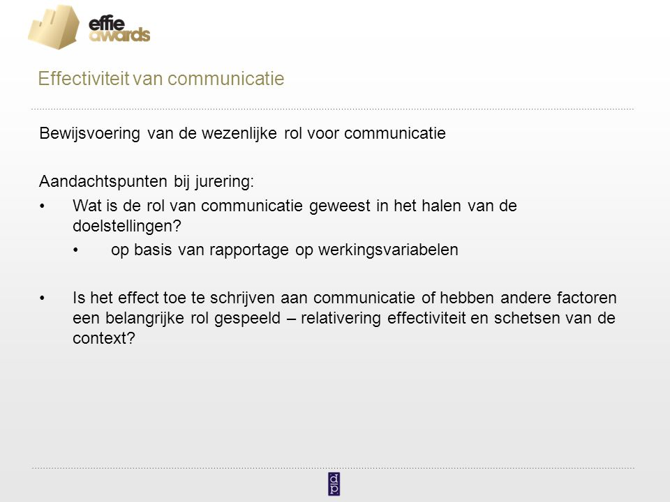 Effectiviteit van communicatie