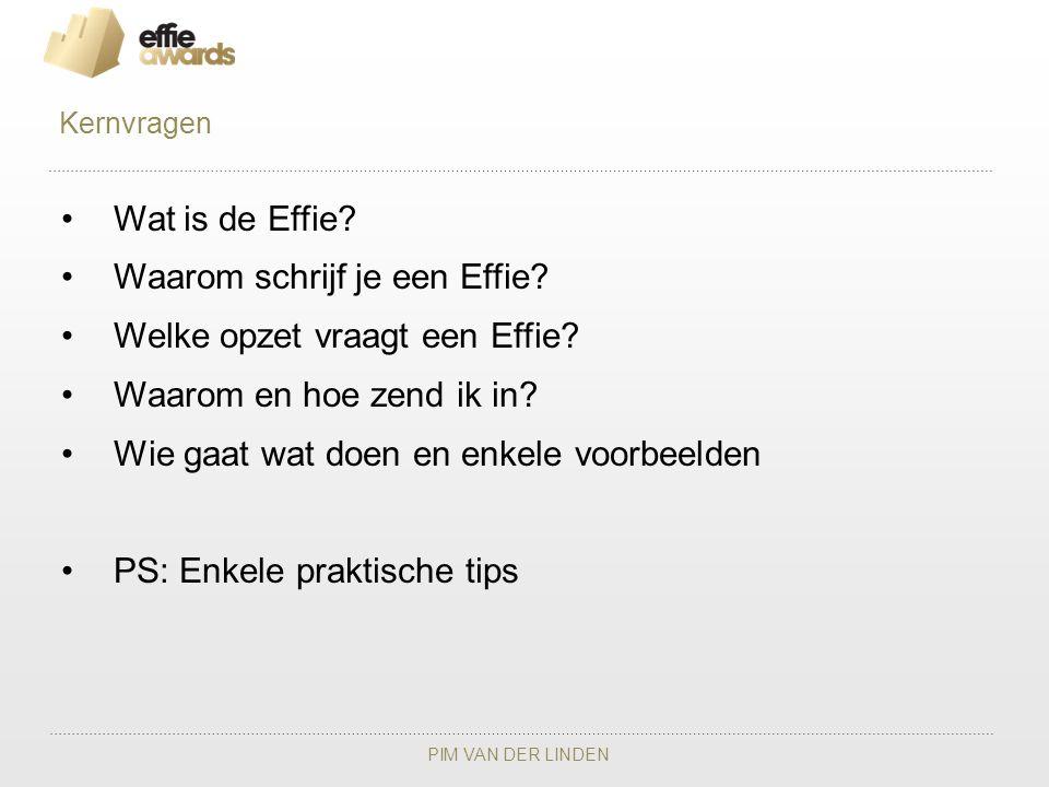 Waarom schrijf je een Effie Welke opzet vraagt een Effie