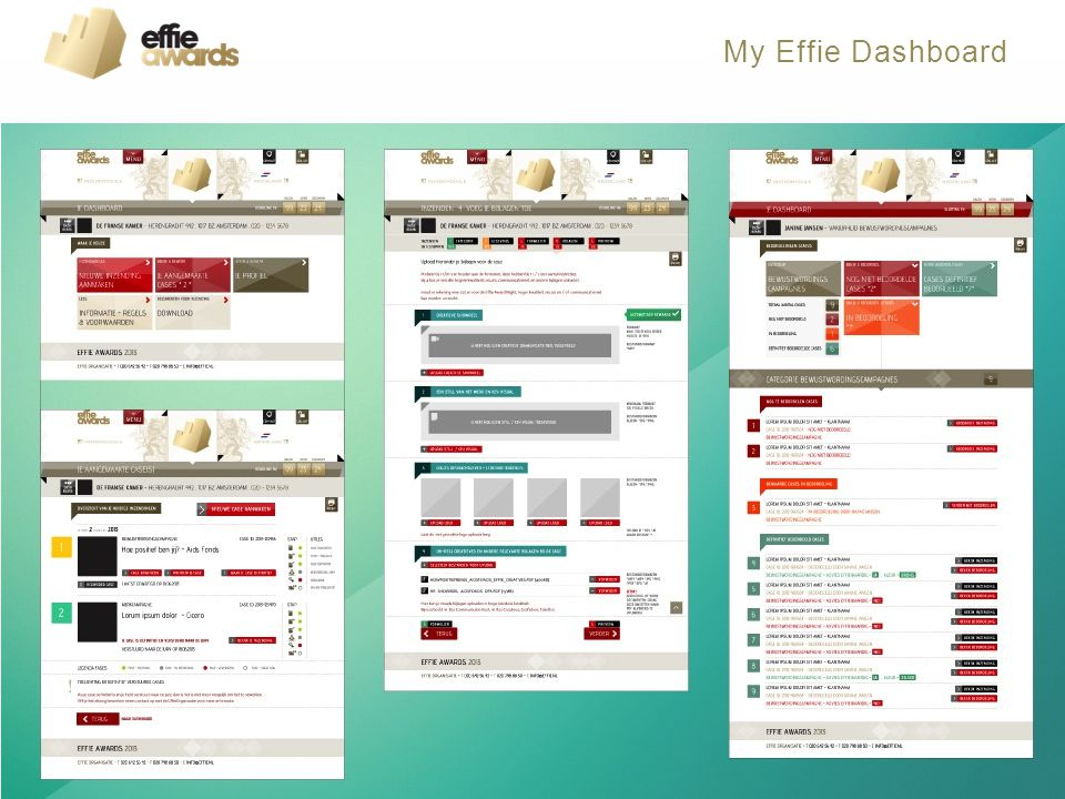My Effie Dashboard