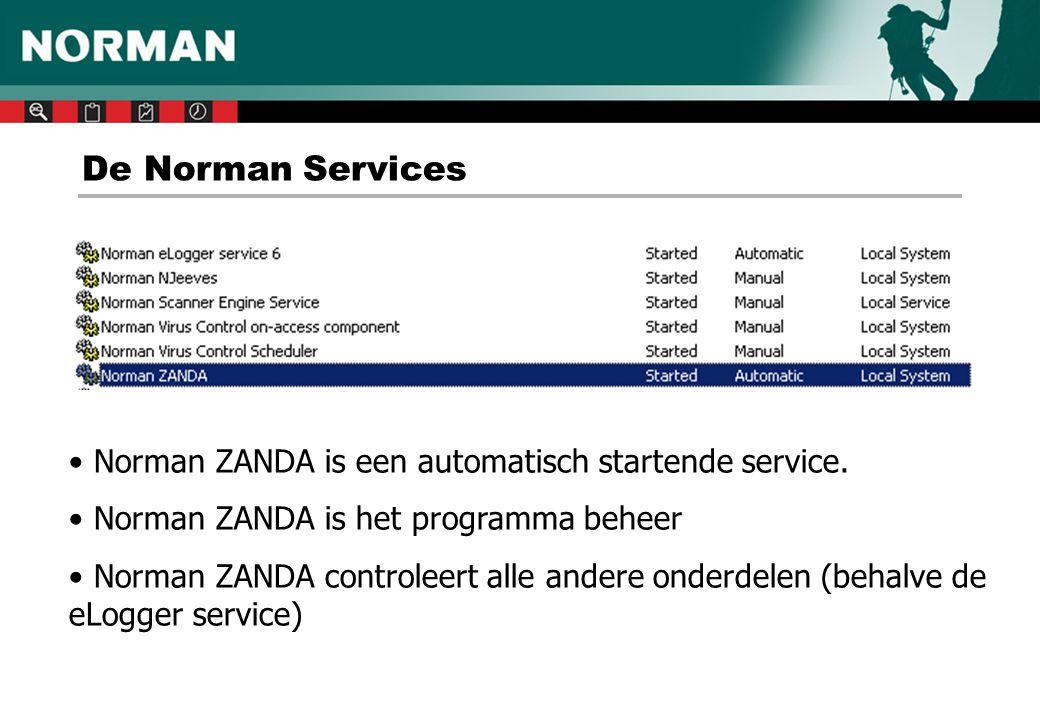 De Norman Services Norman ZANDA is een automatisch startende service.
