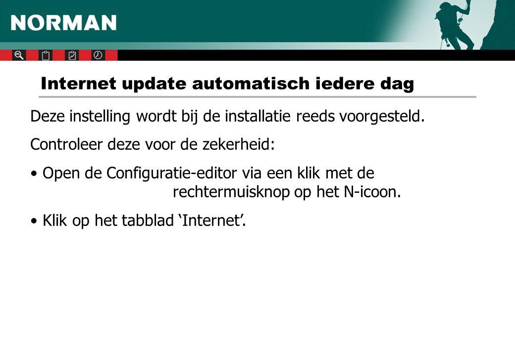 Internet update automatisch iedere dag