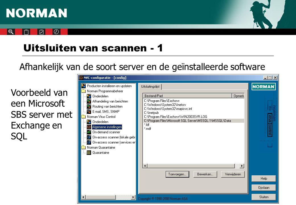Uitsluiten van scannen - 1