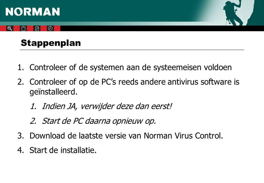 Stappenplan Controleer of de systemen aan de systeemeisen voldoen