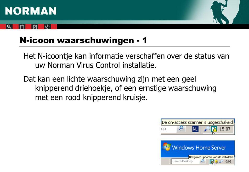 N-icoon waarschuwingen - 1