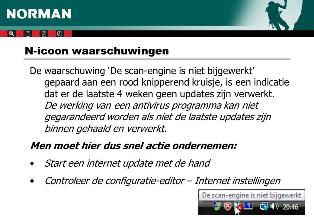 N-icoon waarschuwingen