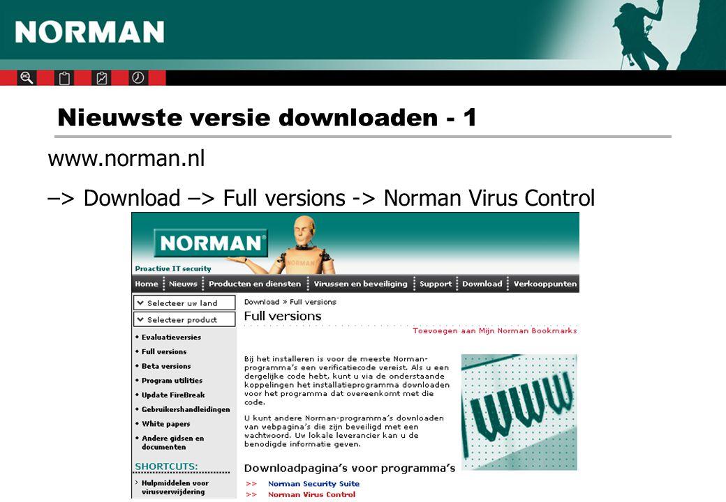 Nieuwste versie downloaden - 1