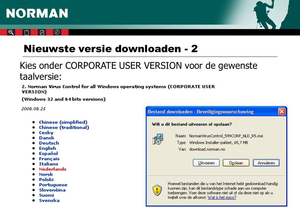 Nieuwste versie downloaden - 2