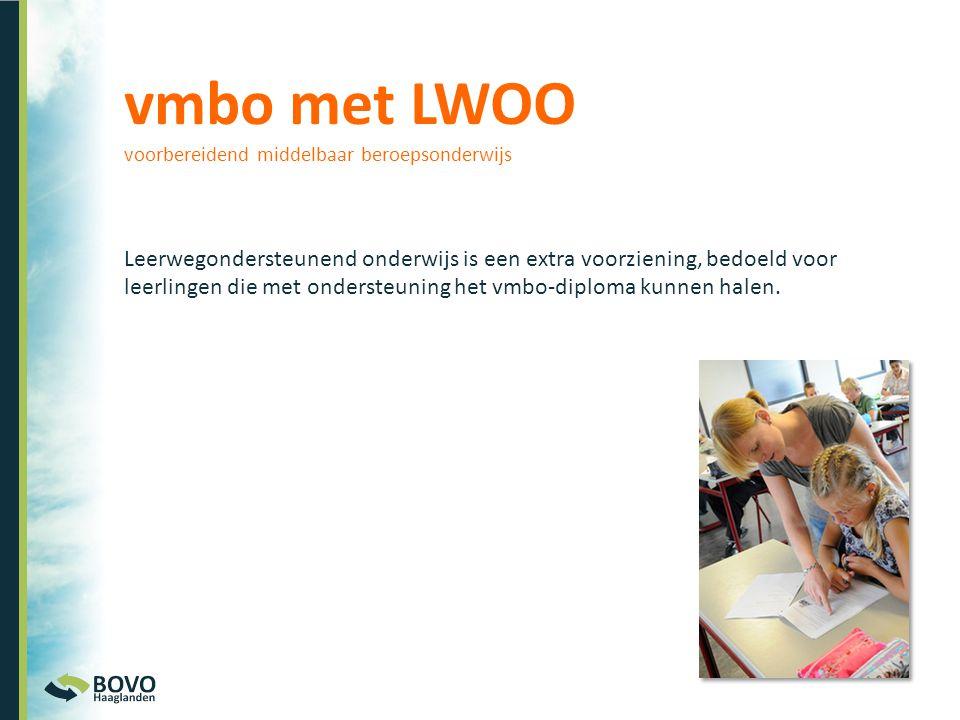 vmbo met LWOO voorbereidend middelbaar beroepsonderwijs.