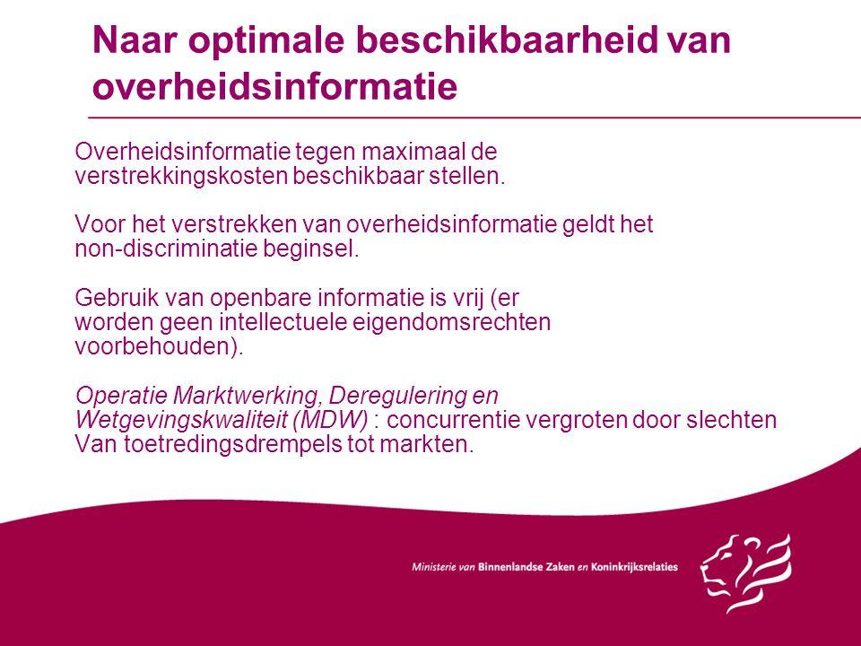 Naar optimale beschikbaarheid van overheidsinformatie