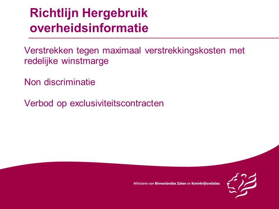 Richtlijn Hergebruik overheidsinformatie