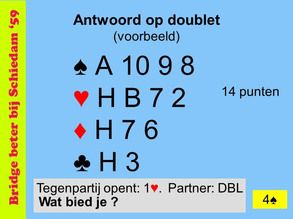 Antwoord op doublet (voorbeeld)