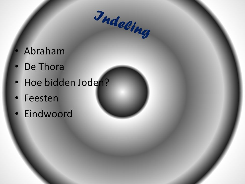 Indeling Abraham De Thora Hoe bidden Joden Feesten Eindwoord