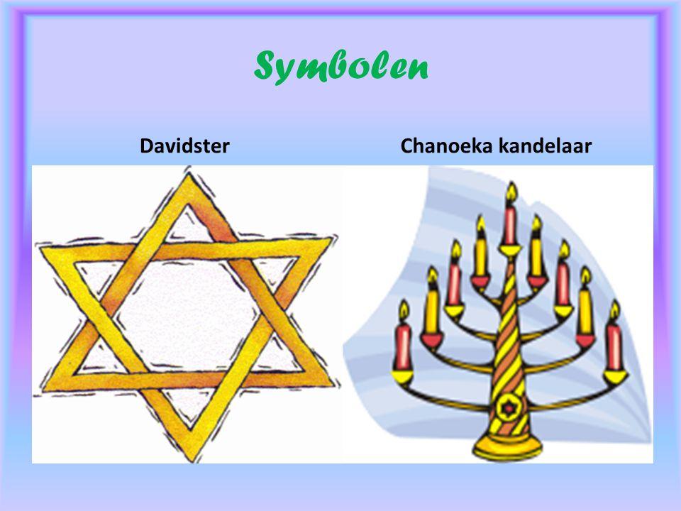 Symbolen Davidster Chanoeka kandelaar