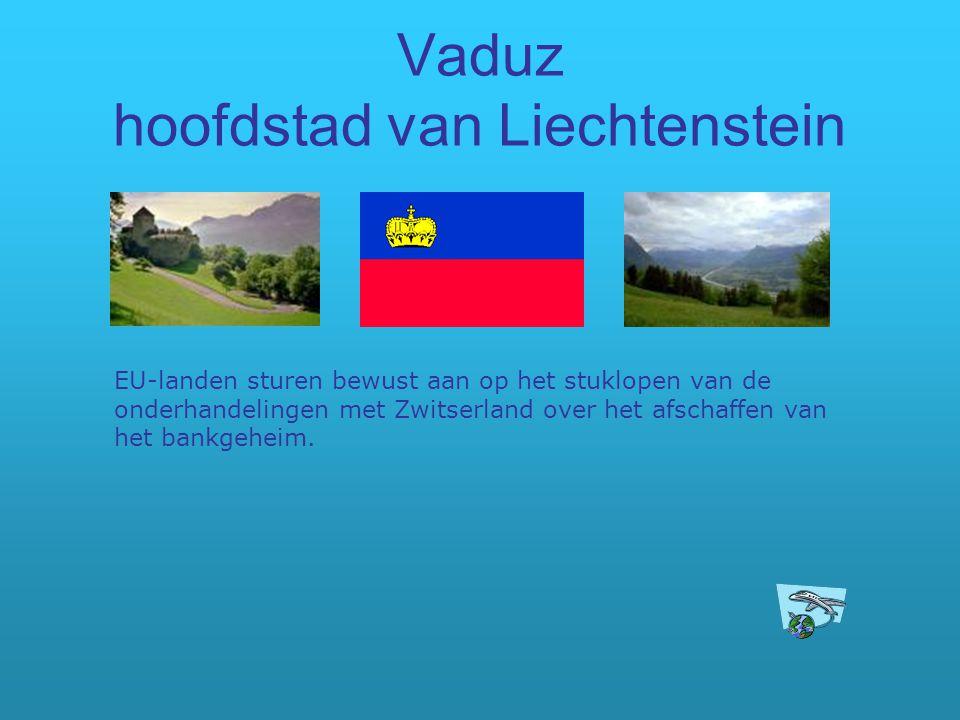 Vaduz hoofdstad van Liechtenstein