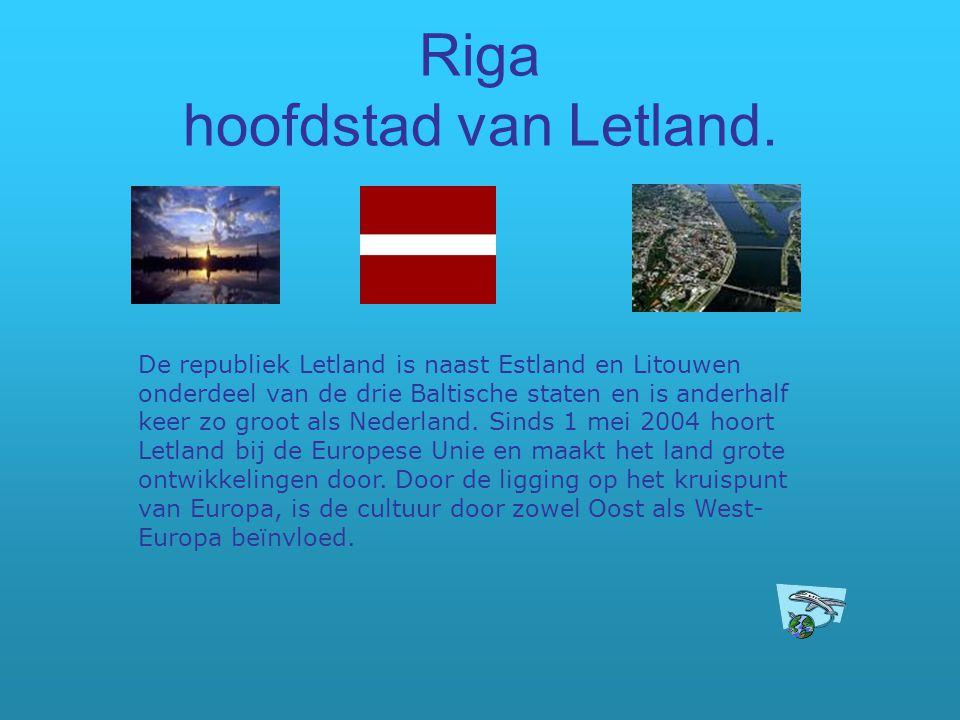 Riga hoofdstad van Letland.