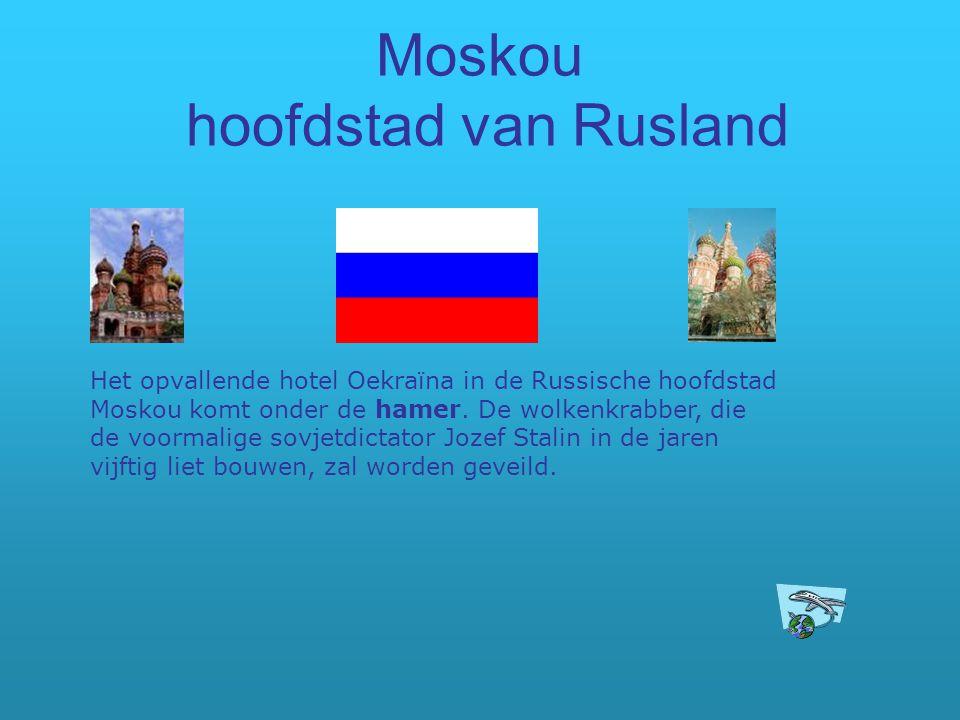 Moskou hoofdstad van Rusland