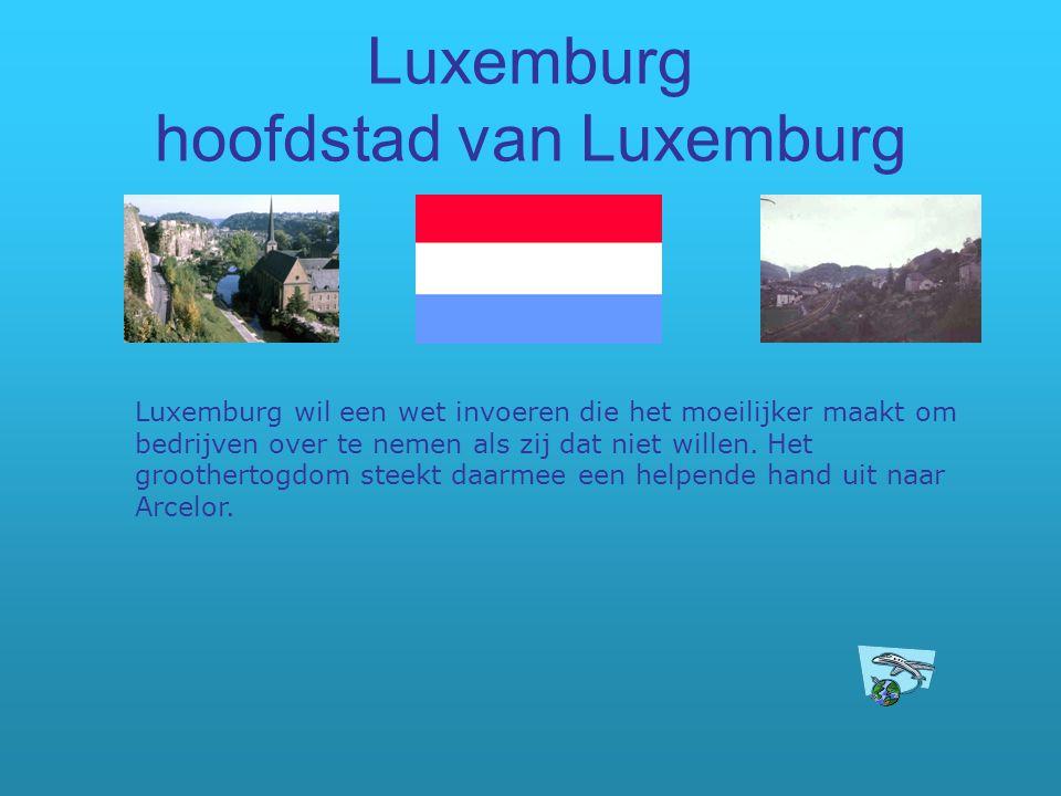 Luxemburg hoofdstad van Luxemburg