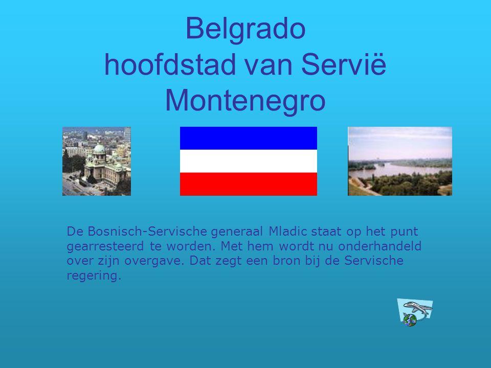Belgrado hoofdstad van Servië Montenegro