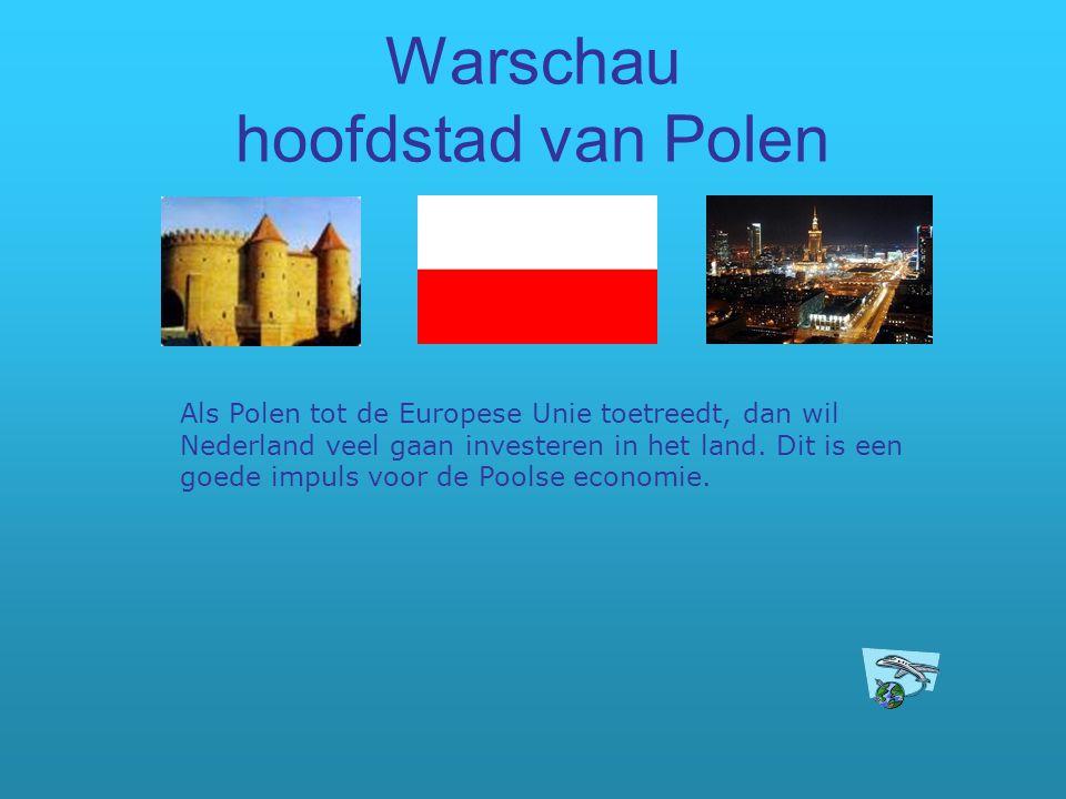 Warschau hoofdstad van Polen
