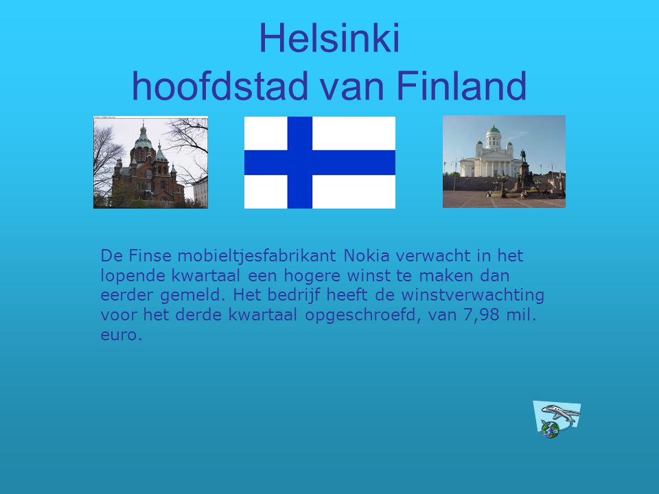 Helsinki hoofdstad van Finland