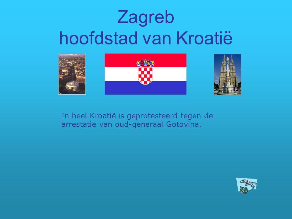 Zagreb hoofdstad van Kroatië
