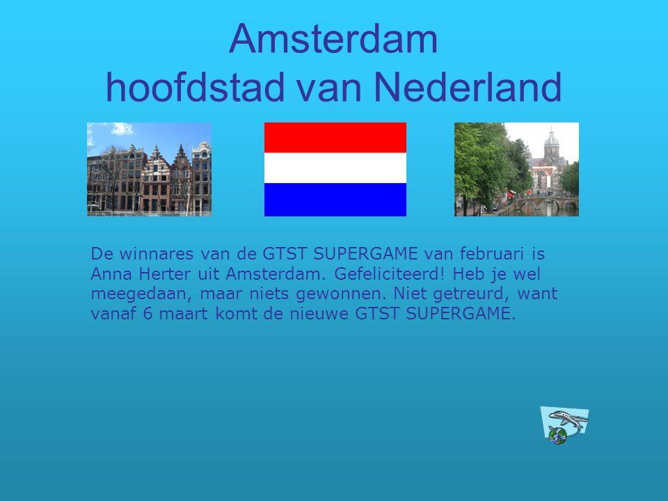 Amsterdam hoofdstad van Nederland