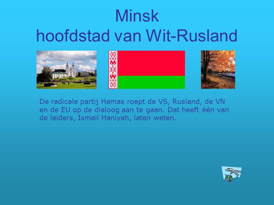 Minsk hoofdstad van Wit-Rusland
