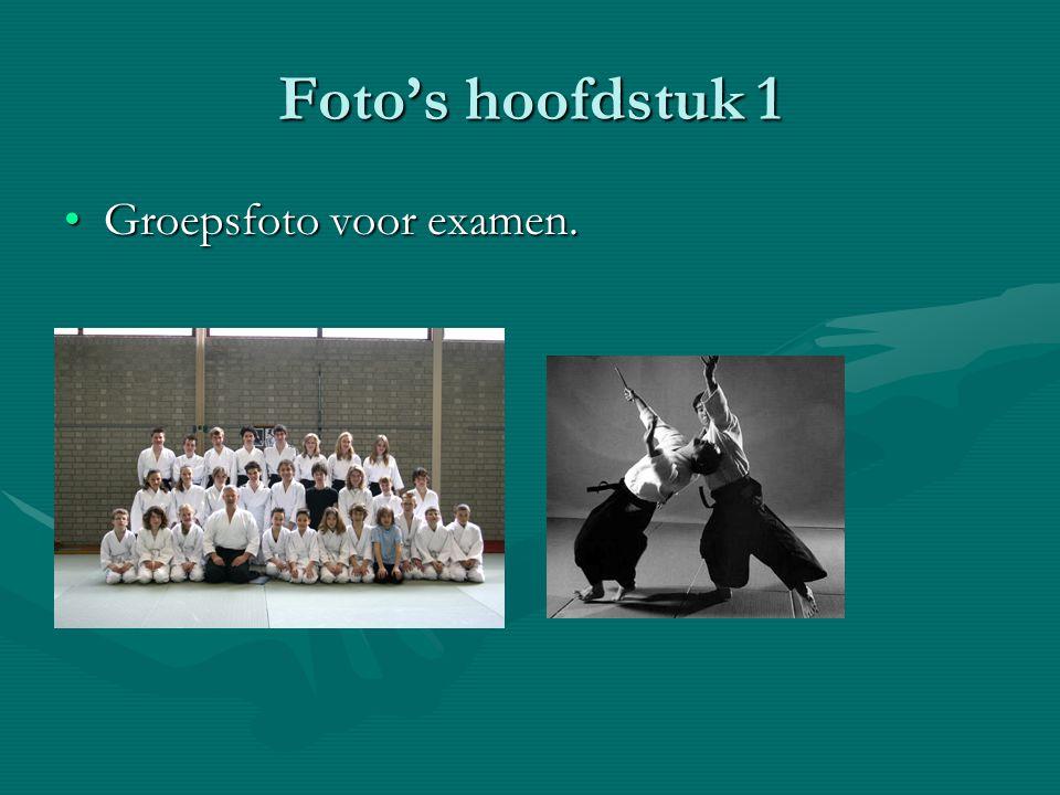 Foto's hoofdstuk 1 Groepsfoto voor examen.