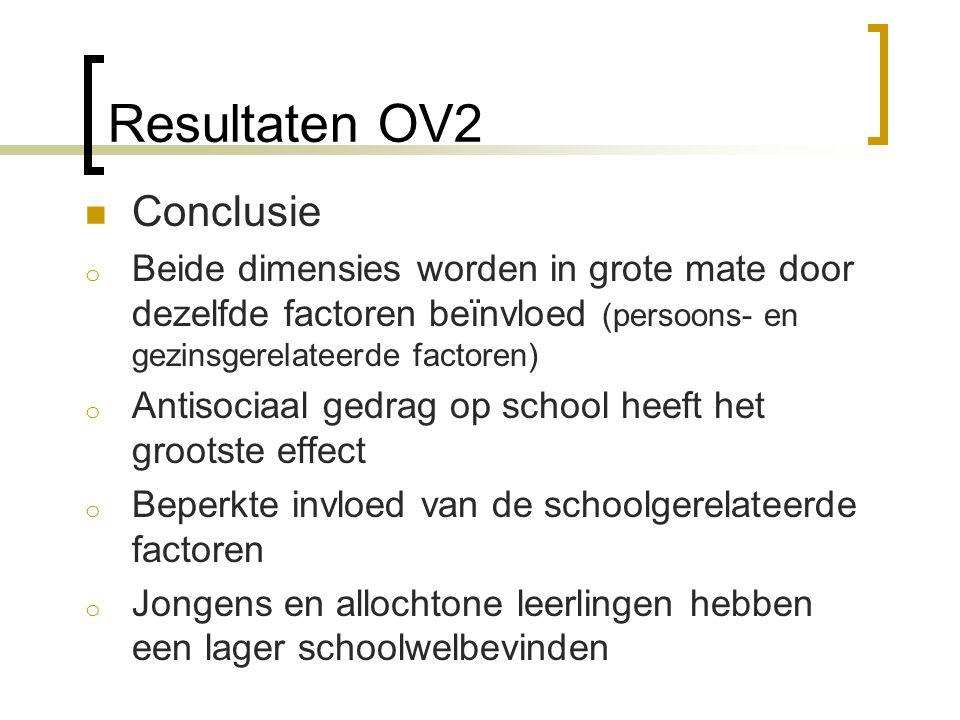 Resultaten OV2 Conclusie