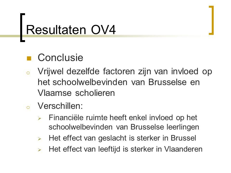 Resultaten OV4 Conclusie