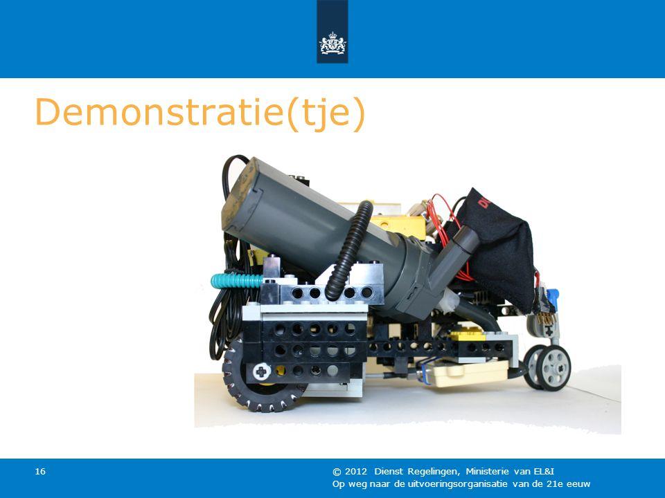 Demonstratie(tje) © 2012 Dienst Regelingen, Ministerie van EL&I