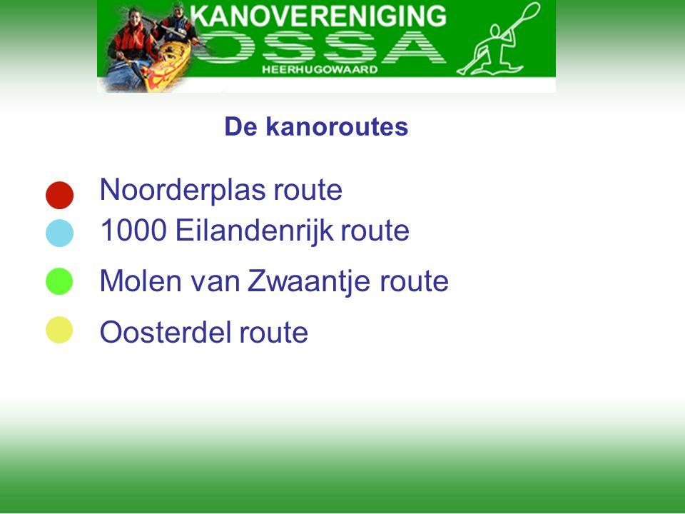 Molen van Zwaantje route Oosterdel route