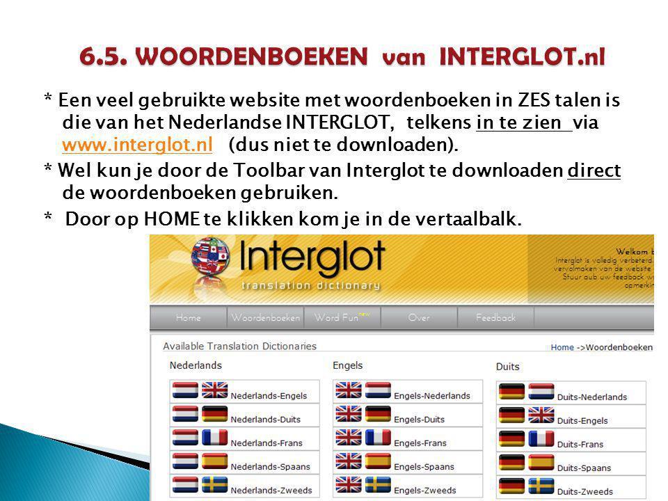 6.5. WOORDENBOEKEN van INTERGLOT.nl