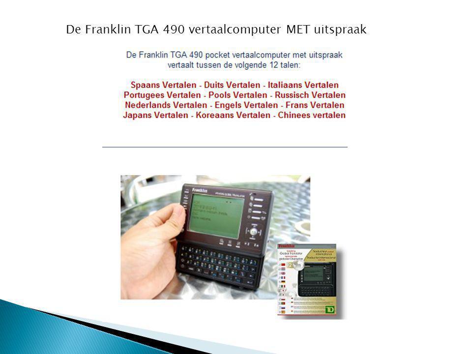 De Franklin TGA 490 vertaalcomputer MET uitspraak