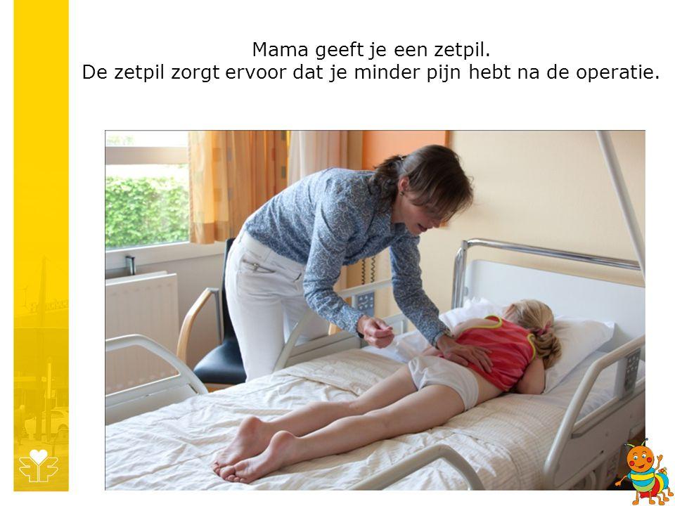 Mama geeft je een zetpil